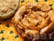 Рецепта Постен тиквеник за Бъдни Вечер (баница с тиква) с готови кори, орехи и канела за Бъдни вечер